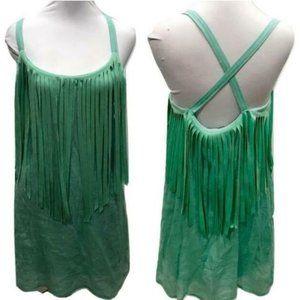 Judith March mint fringe dress